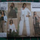 New Vogue Sewing Pattern Misses 12 14 16 Wardrobe Shirt Wrap Skirt Shorts Slim Pants 2744
