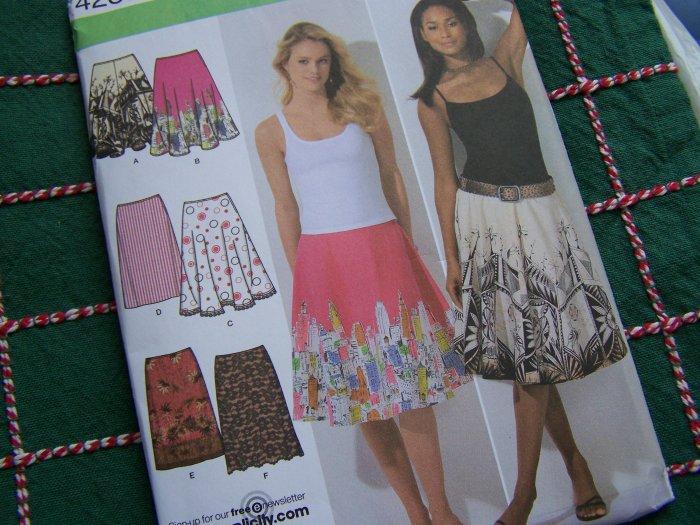 1 Cent USA S&H Misses Easy Sewing Pattern 4236 Slim Skirt Full Half Circle Skirts 12 14 16 18 20