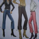 1 Cent S&H US  New 8130 Vogue Sewing Pattern Misses Pants Low Waist Mock Fly Slim Cuff Hem 6 8 10 12