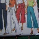 Misses Sewing Pattern 8 10 12 14 Pants & Belt Sash Flare Leg Various Lengths 4995