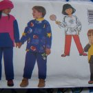 1 Cent USA S&H Toddler Boys Girls 1 2 3 Winter Outfits Top Pants Sewing Pattern 6362