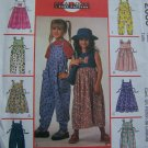 Girls 4 5 6 Jumpsuit or Jumper Dress Sewing Patterns 2039 1 Cent USA Shipping