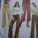 1 Cent S&H USA Misses Straight Leg Pants Sewing Pattern 10 12 14 16 Various Lengths Cuff Hem 4926
