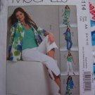 Misses 6 8 10 12 Sewing Pattern Non Stop Wardrobe Shirt Jacket Top Skirt Pants McCall's 5114