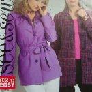 Misses 8 10 12 14 Sewing Pattern Gabardine Poplin Tweed Unlined Below Hip Jacket