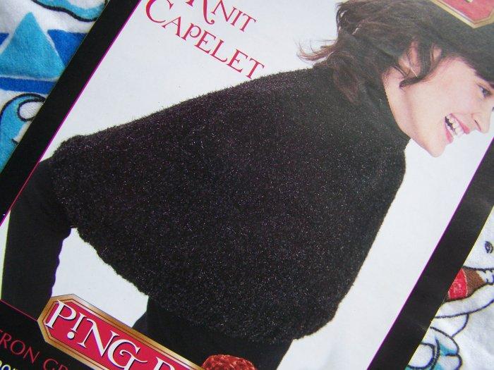 Free S&H USA Bernat Misses Knit Capelet Short Cape Knitting Pattern