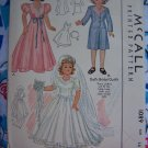 "New Original 1940's 15"" Doll Wedding Dress Clothing Sewing Pattern McCall 1089"