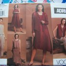 Adri Vogue Sewing Pattern 2751 Suit Set Jacket Vest Top Dress Skirt Pants 12 14 16
