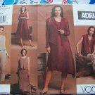 Adri Vogue Sewing Pattern 2751 Suit Set Jacket Vest Top Dress Skirt Pants 12 14 16
