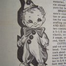 Free USA Shipping 1940's Laura Wheeler Sewing Pattern Sock Clown Doll & Clothing 733