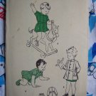 40's Vintage Sewing Pattern Boys Girls Sz 1 Infant Baby Dress & Pants Butterick 4553