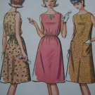 Vintage 60's Mod Sewing Pattern 7188 Two Juniors Dresses 9 10 11 Uncut