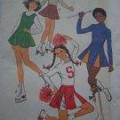 Girls 10 12 Vintage Sewing pattern Cheerleader & Ice Roller Skating Halloween Costumes 8131