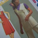 70's Vintage Sewing Pattern 9461 Snap Wrap V  Tunic or Dress Elastic Waist Pants Sz 10