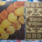 2 VIntage Dried Fruit Cookbooks 30s & 60s Raisin Potpourri Golden Gate International Exposition 1939