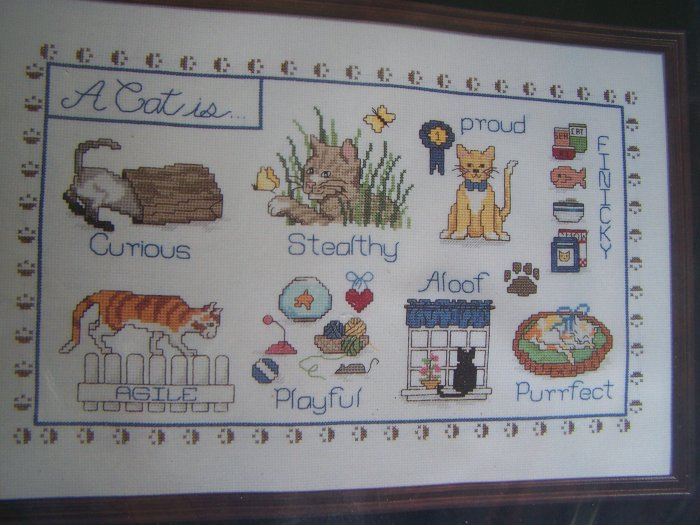 Free USA Shipping Janlynn Counted Cross Stitch Craft Kit A Cat Is ..  1990 Sealed