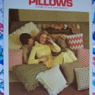 70's Vintage Columbia Minerva Pillows 8 Patterns To Knit or Crochet Square & Floor