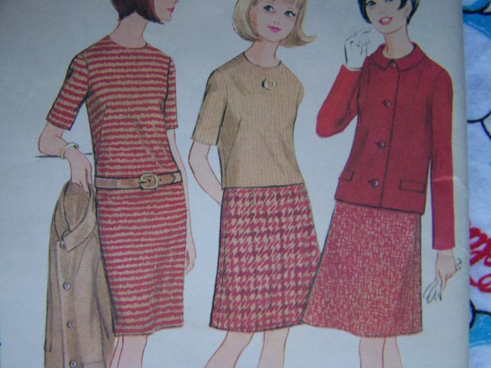 Free USA S&H Teens 10 12  Mad Men 60's Vintage Wardrobe Sewing Patterns Jacket Skirt Dress Top 8430