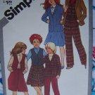 Girls 14 Vintage Wardrobe Sewing Pattern 5250 Skirt Culottes Stright Leg Pants Vest Jacket Uncut