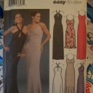 Misses Easy Sewing Pattern 5093 Evening Strap or Halter Gown Length Vari 12 14 16 18