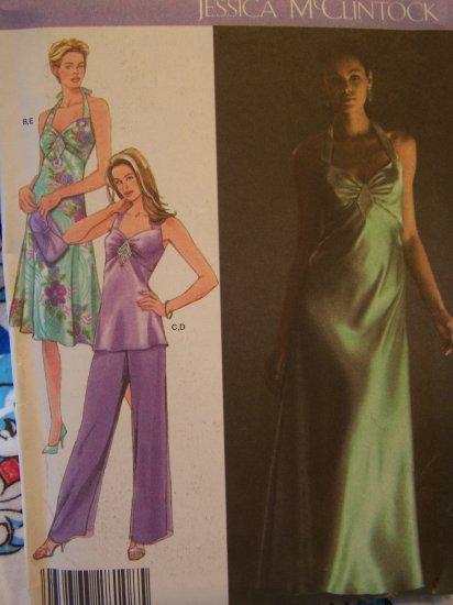 Designer Sewing Pattern 4481 Halter Dress Tunic Top Pants Plus Size 14 16 18 20