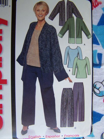 0 USA S&H Misses Sewing Pattern Fall or Winter Wardrobe Tops Pants Jacket 7049