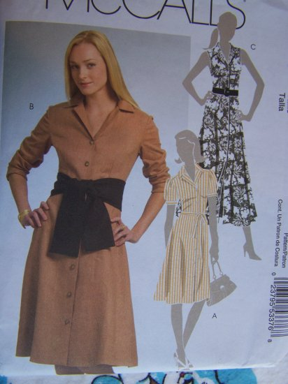 0 USA S&H McCall's Sewing Pattern 5378 Two Length Dress Belt Sash 6 8 10 12 14