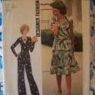 0 USA S&H 70's Misses Sz 10 Wrap Top 2 Piece Dress Sewing Pattern 7295