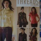 Threads Plus Size Sewing Pattern 4415 Misses Blouse Collection 14 16 18 20 22