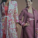 Womens Plus Size Threads Sewing Pattern 4693 Lined Coat & Dress Handbag 14 16 18 20 22