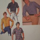 Mens Vintage Shirts Sewing PAtterns 8944 SHort Long Sleeves Button Up Sz 42 Neck 16