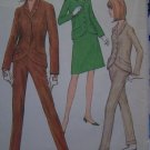Vintage Teens 12 Sewing Pattern 8421 Fitted Suit Jacket A Line Skirt Cuffed Pants