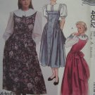 1980's Vintage Sewing Pattern 4602 Jumper Dress Blouse Variations 6 8 10