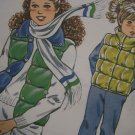 Vintage Girls Quilted Puff Vest Sewing Pattern 1123 Sz 8 10 12 14 Puffer Jacket Vest