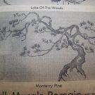 Vintage 80's U Bild Wall Art Painting Mural Pattern Monterey Pine Tree # 308