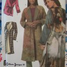 New Misses Sewing Pattern Winter Lined Coat or Unlined Fleece Coat Jacket Sash XXS XS S 4657