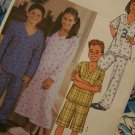 1 Cent USA S&H Children's Sewing Pattern 3644 Pajamas Nightgown Top Shorts Lounge Pants 7 8 10