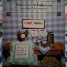 Vintage 80's Country Needlework Embroidery Pattern Charts Farmers Are Fabulous
