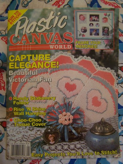 USA S&H Freebie Jan 1993 Plastic Canvas World Pattern Magazine Back Issue