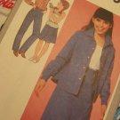 Girls Vintage Sz 10 Sewing Pattern 9565 Skirt Cami Straight Leg Pants Shirt or Shirt Jacket