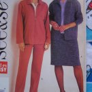 Misses Sewing Pattern 3630 Misses 12 14 16 Loose Unlined Jacket Straight Skirt Elastic Waist Pants