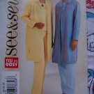 Easy Misses 14 16 18 Sewing Pattern 3813 Loose Long Shirt Jacket Elastic Waist Pants