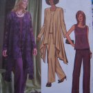 Butterick Sewing Pattern 4022 Misses 8 10 12 Loose Flowing Evening Jacket Top Straight Leg Pants