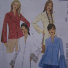 Misses Sewing Patterns 8 10 12 14 Top or Tunic Long Sleeve Shirts Shaped Hem 4148
