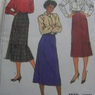 Vintage Simplicity Sewing Pattern 7603 Misses Gored Skirts Two Lengths Fancy Hem