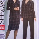 Easy Misses Sewing Pattern 4582 Suit Set Unlined Jacket Slim Skirt Straight Leg Pants 6 8 10 12