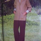 Vintage Misses Sewing Pattern Bust 38 Unlined Jacket Turn Back 3/4 Sleeve Slim Pants 6284