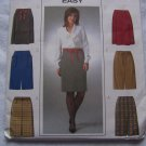 6 Easy Skirts 6-12 Sewing Patterns 4291 Straight Inverted Pleat Vent Center Slit Butterick Uncut