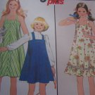 Girls Vintage 70's Sz 10 Ruffle Sundress or Jumper Dress Sewing Pattern Simplicity 8369