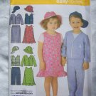 Simplicity Toddlers Sewing Pattern 4247 Boys Girls Twins Jumper Dress Pants Jacket Vest Hat